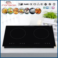 Electric double burner induction hob