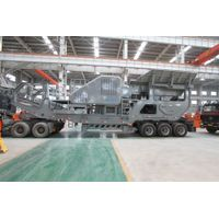 Mobile stone crusher/mobile jaw/impact/cone crushing plant