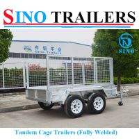 10X6 Dual Axle Fully Welded Tandem Box Trailer