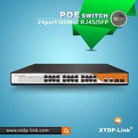 24+2 combo web smart managed vlan POE switch