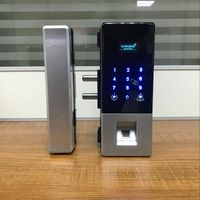 Junqi Intelligent Fingerprint Glass Door Lock thumbnail image