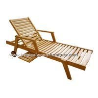 GILI Teak Garden Sunlounger Arms Chair thumbnail image