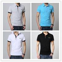 Custom Plain color combination Embroidery Man t shirt polo OEM blank Polo T-shirt