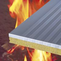 flat surfaced rock wool sandwich panel