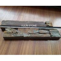YIJUN STONE/ dark color natural rusty stone/ Fireplace stone/wall stone thumbnail image