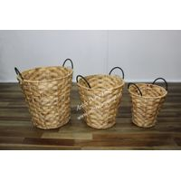 Wholesale customized household handmade water hyacinth basket for storage -SD4968A-3NA