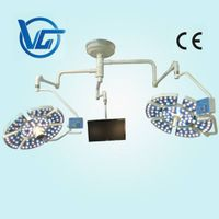 double LED medical surgical lights with camera and LCD