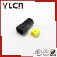 Free samples 2 pins Oxygen Sensor connector black waterproof custom automotive wiring connector