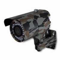 Camouflage CCTV Weatherproof Camera with 30m IR Viewing Distance and 4 to 9mm Lens