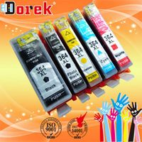 Top sales! Free shipping(15 pieces/lot),compatible ink cartridge H 364xl five color with chip for Eu