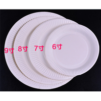 Disposable round paper organic plate thumbnail image