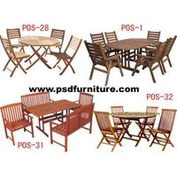 garden outdoor furniture wooden table chair dining room(os4)