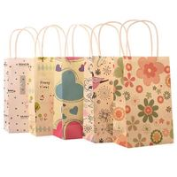 Small printing flower paper shopping bags