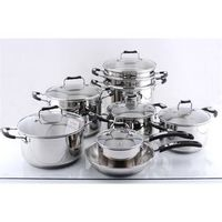 CW19 Cookware set high quality induction stainless steel cookware set,steamer ,sauce pot ,stock pot