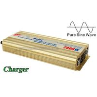 Pure Sine Wave Built-In Charger DC to AC Continuous 2000W Universal Socket Power Inverter