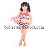 Crab hand smocked swimwear for little girl - BB533