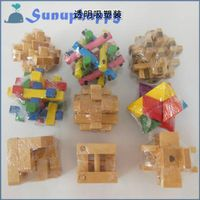Factory directly custom wholesale colorful wooden unlock toys