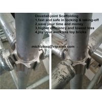 Dovetail joint scaffolding