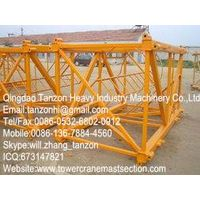F0/23B Chip Tower Crane Sections with Q345B Steel , tower crane parts