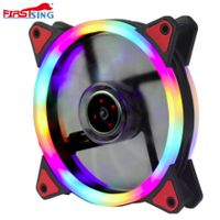 Firstsing 12025 120mm Hydraulic Bearing Double Ring four color LED Long Using Life Computer Case PC