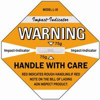 Hot Sale Shockwatch Transport Impact Indicator Sticker Sensor Label Shock Label