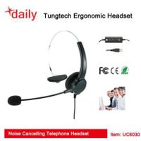 Single Ear UC USB Corded Headset With Adjustable Headband,Without QD Function