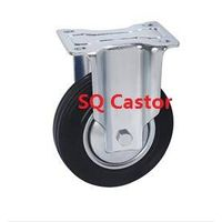 Solid rubber wheel castor