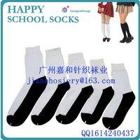 Custom school socks white black cotton sock thumbnail image