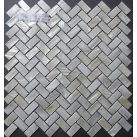 Herringbone Mother of Pearl Shell Mosaic Tile Wall Tiles, Kitchen Backsplash Building Material