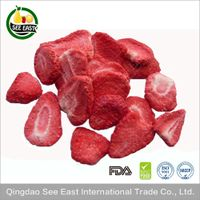 GMP Supply 100% Natural Freeze Dried Strawberry Chips Smoothies manufacture