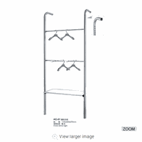 Wholesale clothes shop display rack double-deck storage rack