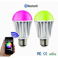 newest product RGBW 7W e14/e26/e27/b22 Bluetooth dimmable led rgb bulb