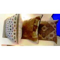 High quality authentic handmade leather pillow
