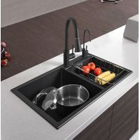 Double-bowl Granite Kitchen Sink