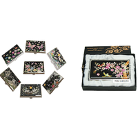 Name Card Holder with Korean Traditional Patterns