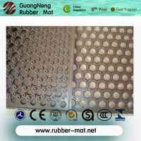 Anti-slip rubber flooring mat with disc thumbnail image