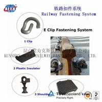 E type rail insulator rail guide plate for railway fastening system thumbnail image