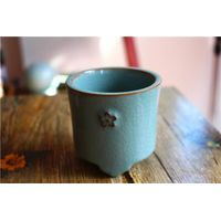 Longquan celadon cups handmade ceramics, unique burner
