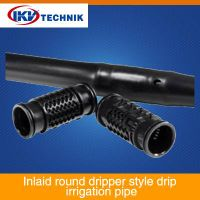 Inlaid round dripper style drip irrigation pipe thumbnail image
