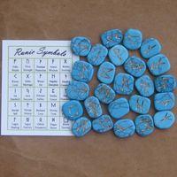 Rune stones set turquoise