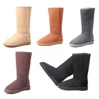 Classic Sheepskin Tall Snow Boots for Men and Women