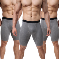 OEM super stretch lengthen anti-grinding leg movement cotton men's shorts underwear briefs boxer