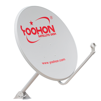 KU Band Outdoor Stainless Steel Dishes Satellite Antenna 80cm