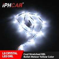 IPHCAR 490mm-690mm Crystal led drl universal dual color led daytime light