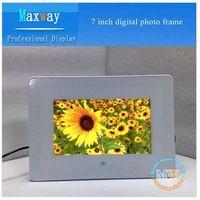 PVC frame 7 inch digital photo frame