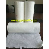 White absorbent viscose/polyester cross spunlace nonwoven wipe fabric