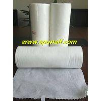 White absorbent viscose/polyester crossspunlacenonwovenwipe fabric