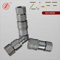 ISO 16028 steel flat face hydraulic quick coupling