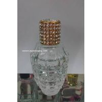 bullet shape perfume glass bottle with diamond cap