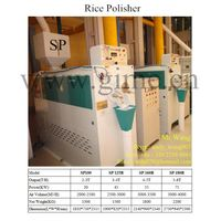 Water Rice Polisher  /  Rice Polishing machine  /  Mist polisher